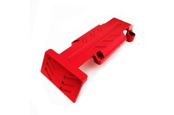 Atomik RC Alloy Rear Skid Plate, Red fits the Traxxas 1/10 E-Revo and Other Traxxas Models - Replaces Traxxas Part 5337