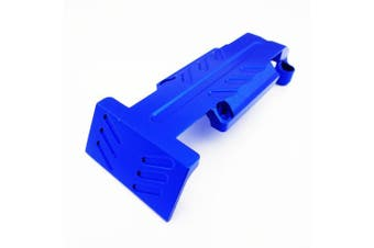 Atomik RC Alloy Rear Skid Plate, Blue fits the Traxxas 1/10 E-Revo and Other Traxxas Models - Replaces Traxxas Part 5337