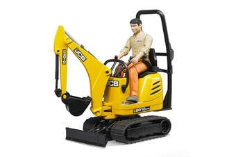 Bruder Jcb Micro Excavator 8010 Cts and Construction Worker (Colours May Vary)