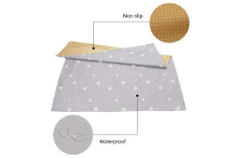 """(Star) - 51"""" Splat Mat for Under High Chair/Arts/Crafts, Womumon Washable Spill Mat Water-Resistant Anti-Slip Floor Splash Mat, Portable Play Mat and Table Cloth (Star)"""