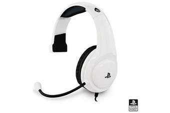 Officially Licenced 4Gamers PRO4 Chat Gaming Headset for Sony Playstation 4 PS4 - White / Black