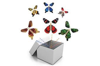 (1-5pcs) - BFY Magic Flying Butterfly Wind Up Toys for Card, Gag Gifts for Kids Great Surprise Colourful Butterfly in Book Greeting Card Books for Wedding Party (5 Pcs)