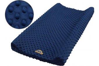 BlueSnail Ultra Soft Minky Dot Changing Pad Cover (Navy)