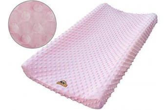 BlueSnail Ultra Soft Minky Dot Changing Pad Cover (Pink,one Size)