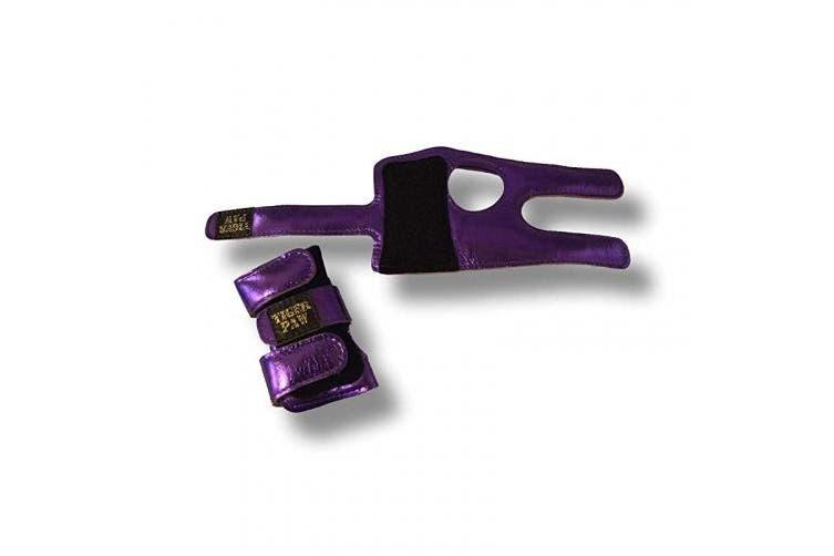(Large (70-100kg), Purple Metallic) - US Glove Tiger Paws Wrist Wraps - Adjustable Wrist Support Braces for Gymnastics, Tumbling, and Cheerleading
