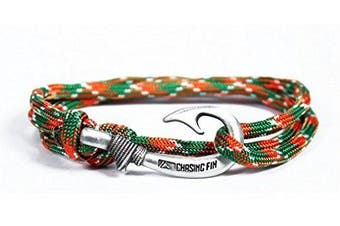 (Celtic) - Chasing Fin Adjustable Bracelet 550 Military Paracord with Fish Hook Pendant