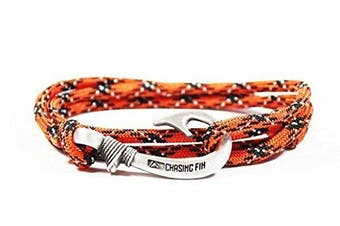 (General Lee) - Chasing Fin Adjustable Bracelet 550 Military Paracord with Fish Hook Pendant