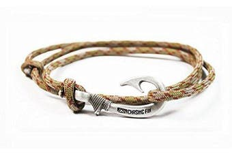 (Copperhead) - Chasing Fin Adjustable Bracelet 550 Military Paracord with Fish Hook Pendant
