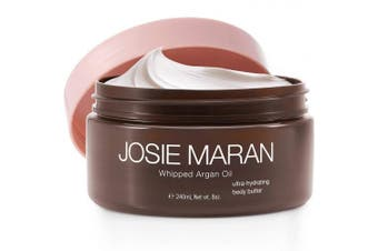 (8 fl oz./240 ml, Vanilla Bean) - Josie Maran Whipped Argan Oil Body Butter - Immediate, Lightweight, and Long-Lasting Nourishment to Soften and Hydrate Skin (240ml/8.0oz, Vanilla Bean)