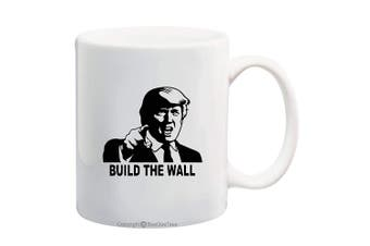 (330ml, BTW-1) - BeeGeeTees President Donald Trump Build The Wall Coffee Mug Office Tea Cup (BTW-1, 330ml)
