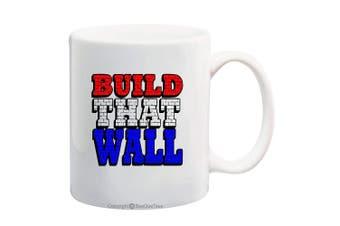 (330ml, BTW-4) - BeeGeeTees President Donald Trump Build The Wall Coffee Mug Office Tea Cup (BTW-4, 330ml)