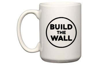 (440ml, BTW-3) - BeeGeeTees President Donald Trump Build The Wall Coffee Mug Office Tea Cup (BTW-3, 440ml)