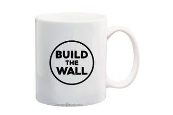 (330ml, BTW-3) - BeeGeeTees President Donald Trump Build The Wall Coffee Mug Office Tea Cup (BTW-3, 330ml)