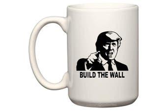 (440ml, BTW-1) - BeeGeeTees President Donald Trump Build The Wall Coffee Mug Office Tea Cup (BTW-1, 440ml)
