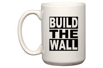 (440ml, BTW-2) - BeeGeeTees President Donald Trump Build The Wall Coffee Mug Office Tea Cup (BTW-2, 440ml)