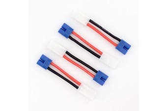 4pcs EC3 Style Male to Tamiya Female Connector Adapter Cable with 14awg 5cm Wire(BDHI-66)