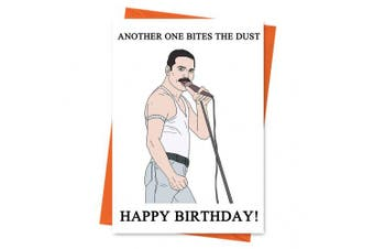 Funny Birthday Card, Freddie Mercury Card, Queen Card, Another One Bites The Dust Birthday Greeting Card