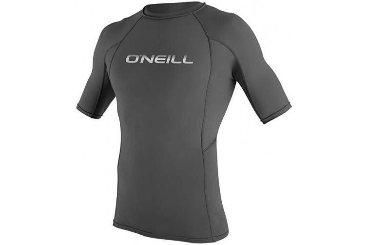 (XXX-Large, Graphite (3341IB)) - O'Neill Men's Basic Skins UPF 50+ Short Sleeve Rash Guard