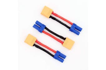 3pcs Female EC5 to XT90 / XT-90 Male Connector Adapter Cable with 12awg 5cm(BDHI-68)