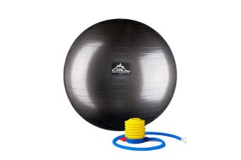 (Black, 45cm) - Black Mountain Products Professional Grade Stability Ball 450kg Anti-Burst 450kg Static Weight Rated