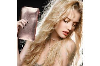 (8 PCS) - Makeup Brushes Set 8Pcs High End Premium Synthetic Cosmetics Contouring Powder Contour Foundation Eyebrow Eyeshadow Kabuki ZOREYA Mermaid Professional Makeup Brush Set Kit With Leather Carrying Bag