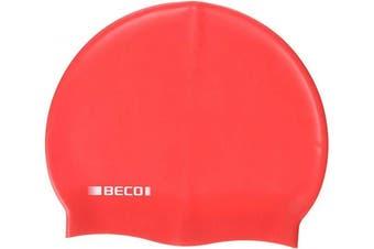 (One Size, red) - Beco Unisex Silicone Cap Kids, Unisex Swimming Cap, Unisex, 7399