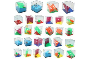 THE TWIDDLERS Mini Puzzle Box - Brain Teaser Set of 28 - Assorted levels of Games - ideal indoor activity for kids - anxiety & stress relief toys for Adults, Children & Teenagers
