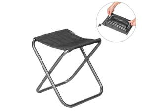 (Silver) - Folding Camping Stool, Outdoor Ultra-Light Aluminium Alloy Folding Portable Chair Slacker Chair with Storage Bag For Hiking Fishing Travel
