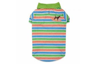 (X-Small) - Casual Canine Hawaiian Breeze UPF40 Polo Shirt for Dogs