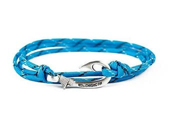 (Ice Cold) - Chasing Fin Adjustable Bracelet 550 Military Paracord with Fish Hook Pendant