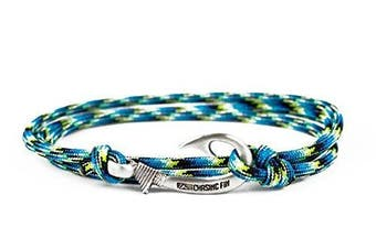 (Oceanic) - Chasing Fin Adjustable Bracelet 550 Military Paracord with Fish Hook Pendant