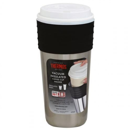 Thermos LLC, Thermos Vacuum Insulated Coffee Cup Holder, 1 cup holder THERMOS 590ml SS VACUUM INSULATED COFFEE CUP INSULATOR