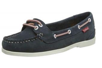 (7  (40 EU), Blue (Navy/Pink 001)) - Chatham Women's Harper Boat Shoes
