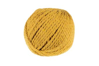 (Gold) - Craft County 50 Metre Skein of 4mm Diameter Crafting Cotton Rope in a Variety of Colours