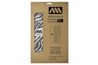 (Clear/Zebra) - All Mountain Style Honeycomb High Impact Frame Guard XL – Protects your bike from scratches and dings