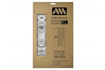 (Clear/Wolf) - All Mountain Style Honeycomb High Impact Frame Guard XL – Protects your bike from scratches and dings