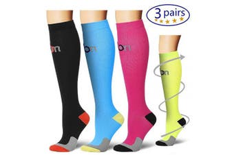 (Small/Mediun, Assort20) - Bluemaple Compression Socks for Women & Men - Best for Running, Athletic Sports, Crossfit, Flight Travel -Maternity Pregnancy, Shin Splints - Below Knee High