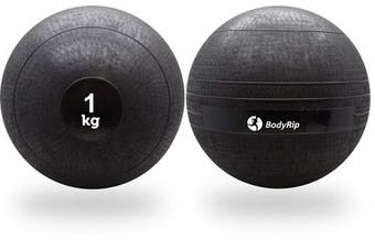 (1 KG) - BodyRip NO BOUNCE Medicine Slam Ball Med Ball   Heavy Duty, Durable   Functional Strength Training, Home Gym, Fitness Exercise, Weight Lifting, Fat Loss, Ripped, Crossfit, Callisthenics, MMA