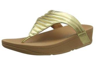 (6 UK, Gold (Artisan Gold 667)) - Fitflop Women's Lottie Padded Flip Flops