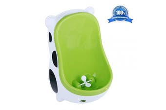 (Green) - Cute Cow Urinal Potty Training for Boys with Funny Aiming Target/Portable Toilet Training, Potty Urinal Pee Trainer Urine - Green