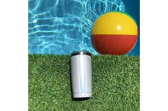 (590ml, Holographic Sparkle) - 590ml Stainless Steel Tumbler with Splash Proof Sliding Lid - Premium Quality Double Wall Vacuum Insulated Travel Coffee Mug - Insulated Cup for Hot & Cold Drinks - Sparkle Holographic Tumbler