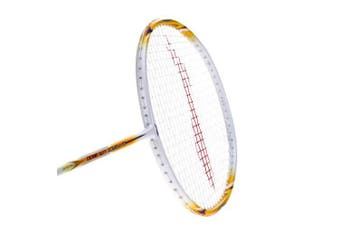 (Lite 3600 - White/Gold) - LI-NING Badminton Racket G-Force Series Player Edition Light Weight Carbon Graphite Shaft 78 + GMS with Full Carrying Bag Cover