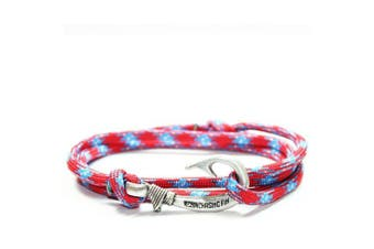 (southern) - Chasing Fin Adjustable Bracelet 550 Military Paracord with Fish Hook Pendant