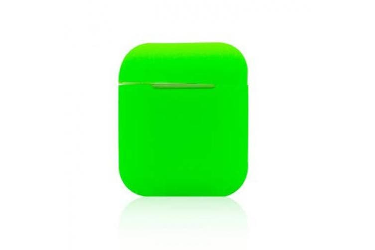 (Bright Green) - Light Slimline Airpods Case Protective Silicone Cover and Skin for Apple Airpods Charging Case (Bright Green)