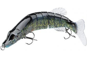 (SwimPike - 8in/2.5oz - Smallmouth Bass - One Piece) - Bassdash Swimbaits Pike Trout Glide Baits Minnow Hard Bass Fishing Lure 18cm /20cm