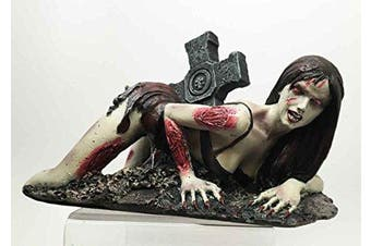 Walking Dead Zombie Stripper Sexy Vixen Girl Sculpture