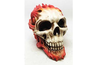 TOM WOOD DEATH FIRE SKULL STATUE HOT ROD SKELETON DEATH GHOST RIDER FIGURINE