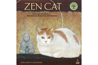 Zen Cat 2020 Mini Calendar: Paintings and Poetry by Nicholas Kirsten-Honshin