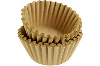 (500, Natural Unbleached) - 8-12 Cup Basket Coffee Filters (Natural Unbleached, 500)
