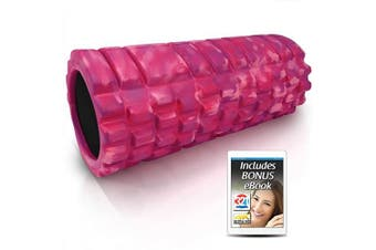 (Glam) - 321 STRONG Foam Roller - Medium Density Deep Tissue Massager for Muscle Massage and Myofascial Trigger Point Release, with 4K eBook